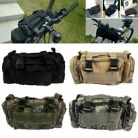US Cycling Bike Bicycle Sports Handlebar Waist Bag Shoulder Bag Holder Pouch