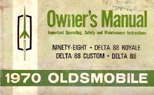 1970 Oldsmobile 98 Delta 88 Cruiser Owners Manual User Guide Operator Book Fuses