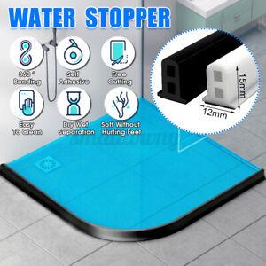 60-200cm Foldable Threshold Bathroom Kitchen Water Stopper Dam Shower Barrier