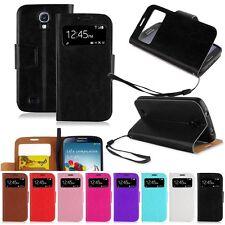 Samsung Galaxy S4 Cover schwarz Hülle S-View Stand Tasche Case Schutz Handy neu