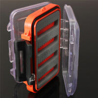 Double Side Foam Fly Fishing Lure Bait Hook Tackle Storage Box Case Container