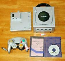 Silver Nintendo Gamecube DOL-101+GBA player BUNDLE - NTSC-J DJH10299928 (sil03)