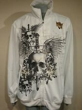 MMA Elite Black & White Track Jacket Men's Large Premium Fight Gear Q26