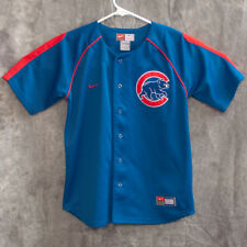 MLB Chicago Cubs Youths Embroidered Baseball Jersey Size M Nike Blue