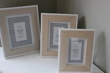 WOOD PHOTO FRAME ,CHOICE OF THREE SIZES, FREESTANDING OR HANGING SHABBY CHIC
