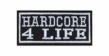 Hardcore 4 Life Biker Heavy Rocker Patch Aufnäher Kutte Motorrad Badge Stick