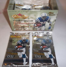 2 PACK Lot NFL 2000 Fleer Showcase Hobby 5 cards pack TOM Brady Rookie year Hot