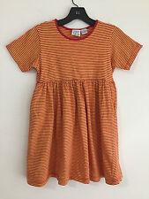 Talbots Kids Cotton Knit Dress Orange & Red Stripes Little Girls Size L