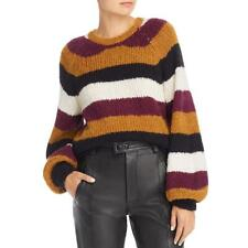 Joie Izzie Women's Wool Blend Balloon Sleeve Striped Pullover Sweater