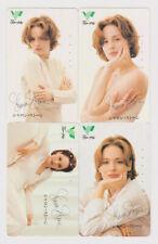 LOT 4 télécartes privées JAPON - CINEMA - SHARON STONE - MOVIE JAPAN phonecards