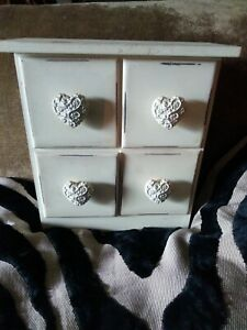 Small Shabby 4 Drawer Freestanding Little Unit