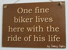 One Fine Biker Motorcycle Ride Sign Bar Garage Man Cave Moto GP Harley Davidson