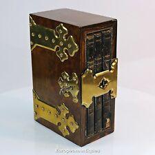 Antique English Walnut Slipcase Book Box London c.1860 Cash Diary & Address Book