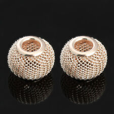 10pcs Silver Gold Plated Mesh Spacer Beads For Jewelry Diy Making Findings