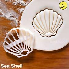 Seashell cookie cutter |nautical beach wedding party favor mermaid ocean biscuit