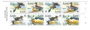 ALAND 2001 BIRDS/STELLAR'S EIDER BOOKLET containing 2 x SG184-187