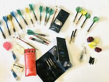New listing Lot Set of Vintage Steel & plastic Til Darts With Cases And Extra Pieces VTG
