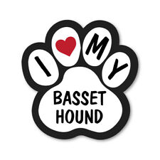 I LOVE MY BASSET HOUND CAR VAN LORRY WALL VINYL SELF ADHESIVE STICKERS