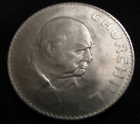 Winston Churchill Coin Crown WWII WWI Hitler Nazi Germany Medal Silver London US