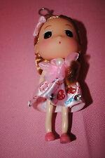 """Schlüsselanhänger DOLLS 4"""" groß-Puppe W Blonde Puppe im rosa Herz $5.75/Pro"""