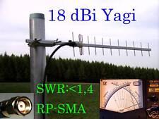 >Booster WLAN Antenne Richtantenne Yagi 18dBi 1m H155 LOW LOSS Kabel<