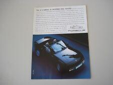 advertising Pubblicità 1989 PORSCHE 944 S2 CABRIO