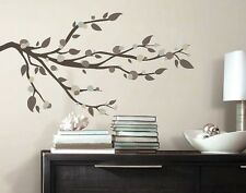 """MOD BRANCHES 49"""" BiG Wall Decals Brown Tree Branch Room Decor Leaves Stickers"""