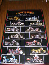 LAMINATED POSTER MOTORCYCLES
