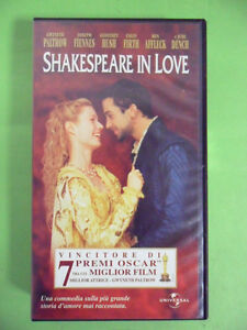 SHAKESPEARE IN LOVE.VHS.GWYNETH PALTROW-JOSEPH FIENNES-COLIN FIRTH.1999