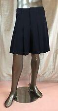 COMME DES GARCONS Men's Navy Blue Kilt-Effect Pleated Wide-Leg Wool Shorts