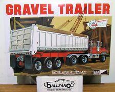 MPC 823 12 Tire Dumping GRAVEL TRAILER plastic model kit 1/25