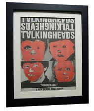 TALKING HEADS+Remain Light+POSTER+AD+RARE+ORIGINAL+1980+FRAMED+FAST GLOBAL SHIP