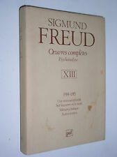 SIGMUND FREUD - OEUVRES COMPLETES, VOL. XIII 1914-1915 [ED. PUF 1988]