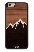 TPU Holz Handy Hülle Tasche Cover Case Schale Etui Berge II Geschenk
