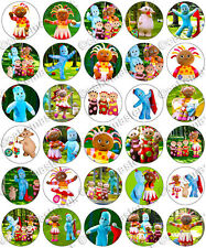 30 x In The Night Garden Edible Rice Wafer Paper Cupcake Toppers