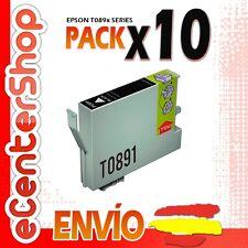 10 Cartuchos de Tinta Negra T0891 NON-OEM Epson Stylus Office BX300F