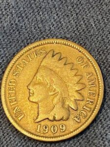 1909 S INDIAN HEAD CENT CIRCULATED SAN FRANCISCO COIN RARE DATE no reserve