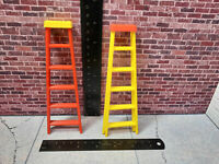 RC 1/10 Scale Step Ladder 2 pack Shop Garage Rock Crawler Doll House Accessories