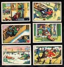 Dangers To Children German Card Set #1 1929 Echte Marg Car Dog Ice Tram Stairs