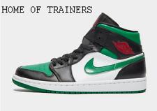 Nike Jordan Air 1 Mid Black Green Men's Trainers All Sizes