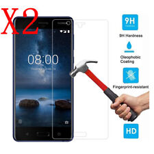 2pcs 9H Ultra HD Clear Tempered Glass Screen Protector Film Guard for Nokia 8