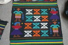 """Hand embroidered Stitched 21"""" x 40"""" Tapestry Textile Latin American Guatemalan"""