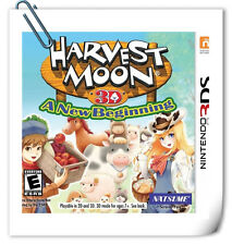 3DS Nintendo Harvest Moon 3D: A New Beginning Natsume Strategy Games