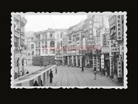 50's KOWLOON STREET DOUBLE DECKER BUS SHOP SIGN Vintage Hong Kong Photo #1322