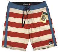 QUIKSILVER Cypher Brigg | Men's Board Shorts | Red White Blue | BNWT | Size 34