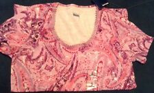 New comfy Small Size Tee Lace Crew Top Shirt  Women Clothes Pink & Purple