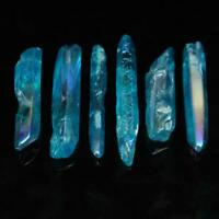 50G VERY POWERFUL & RARE BLUE AURA LEMURIAN SEED QUARTZ CRYSTAL HEALING POINT