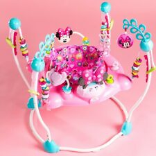 Baby Activity Jumper Minnie Mouse Toddler Girl Gym Bouncer Center Sound Lights