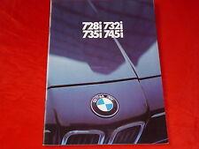 BMW 7er E23 728i 732i 735i 745i Prospekt Brochure von 1981