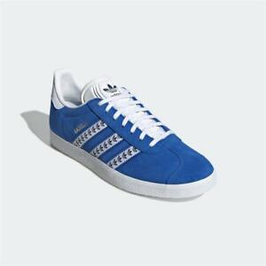 Adidas Gazelle Trainers Blue White Authentic Brand New